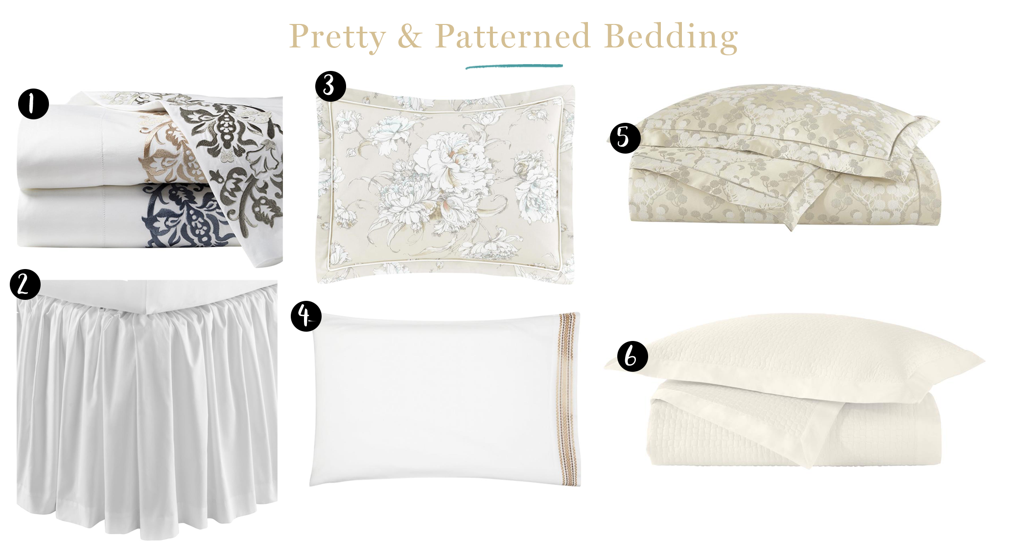 graphic of different types of bedding