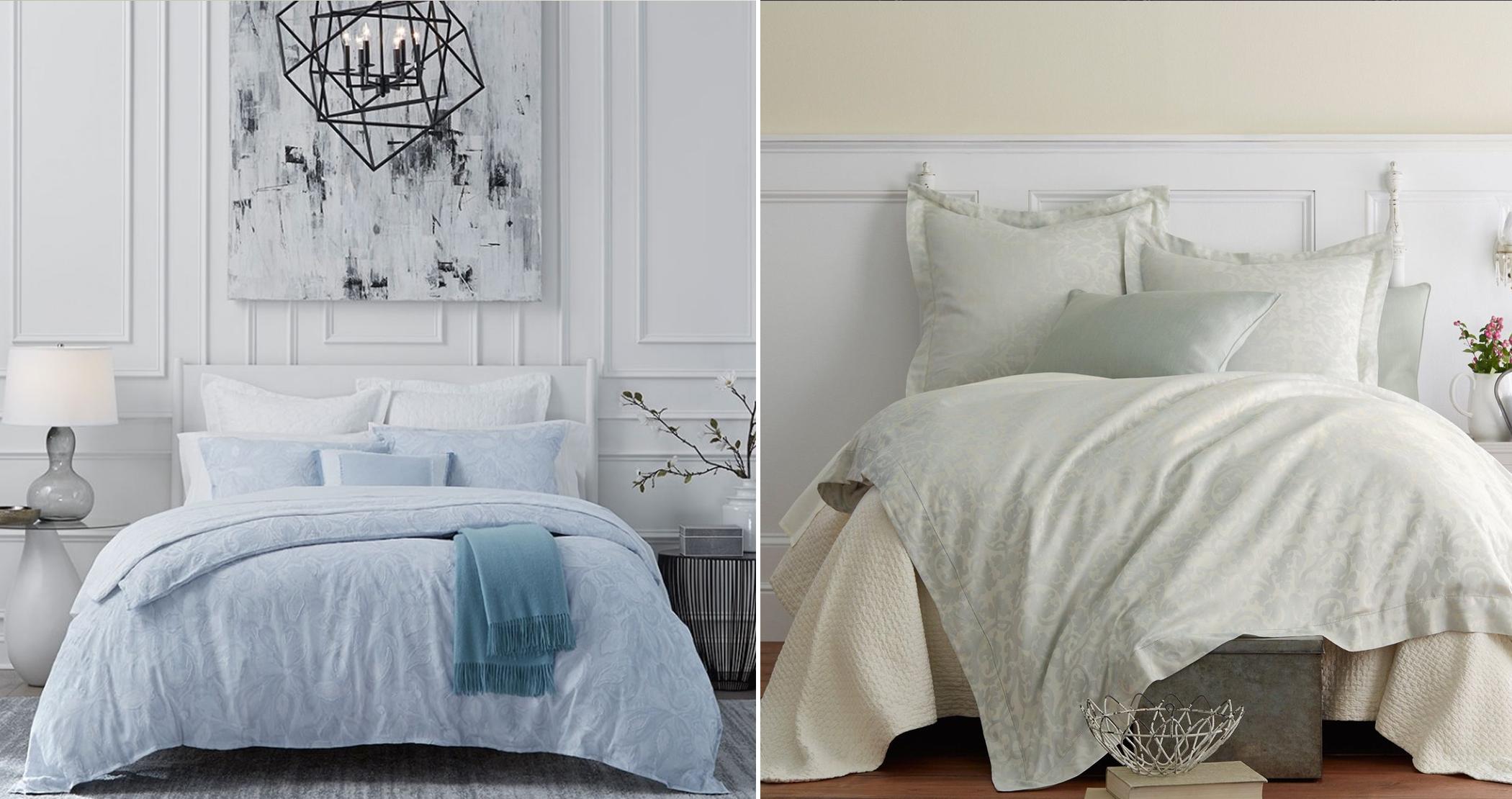 photo collage of bedroom interiors