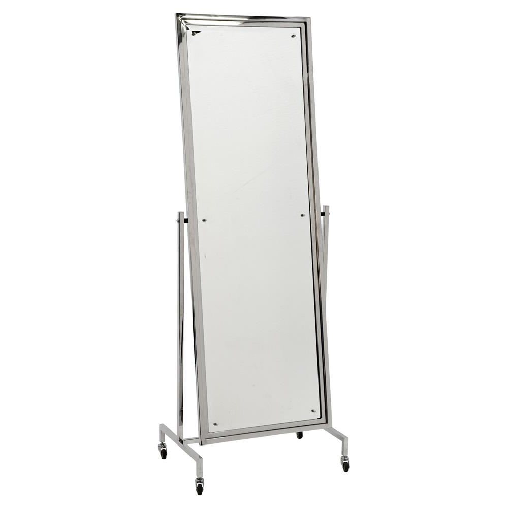 Eichholtz Capri Modern Classic Nickel Beveled Floor Mirror