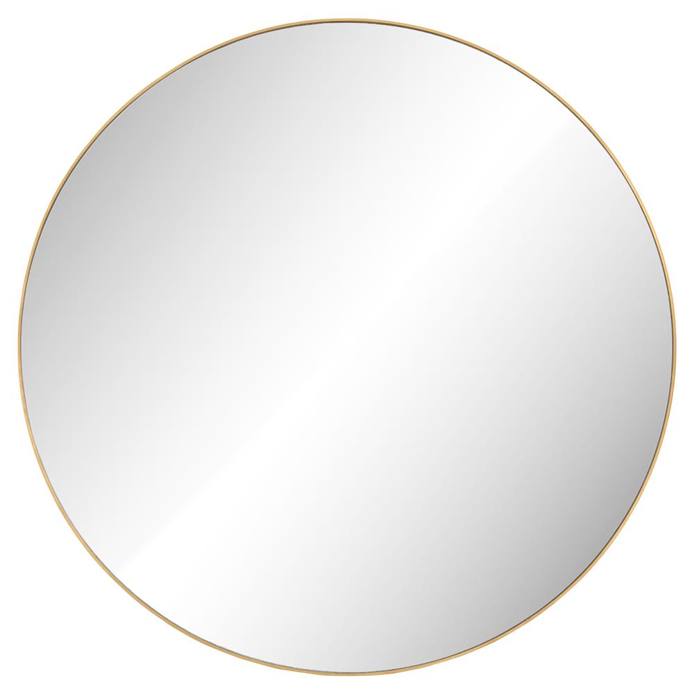 Harrington Modern Regency Polished Brass Round Wall Mirror