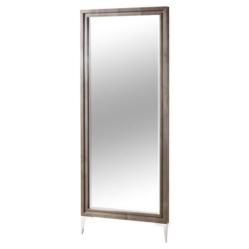 Resource Decor Chloe Modern Classic Rectangular Wood Framed Floor Mirror