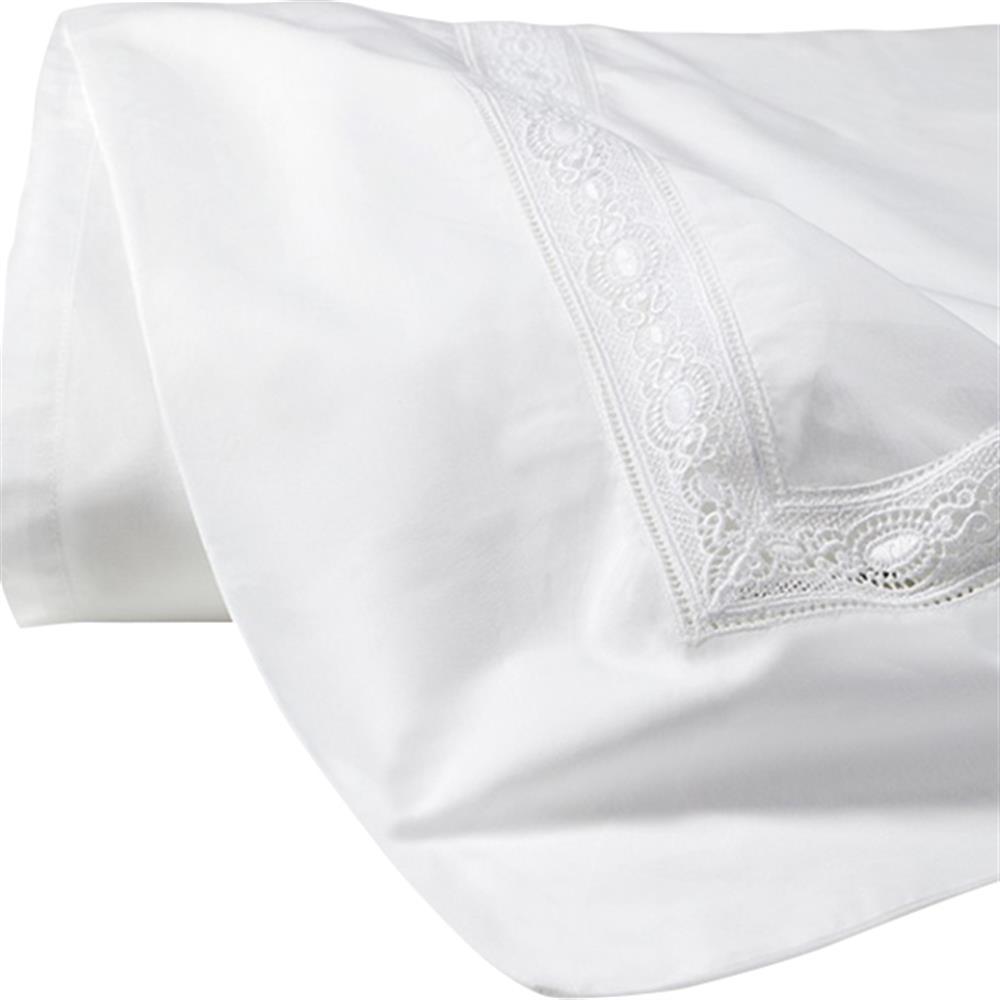 Sferra Modern Giza 45 Lace Flat Sheet