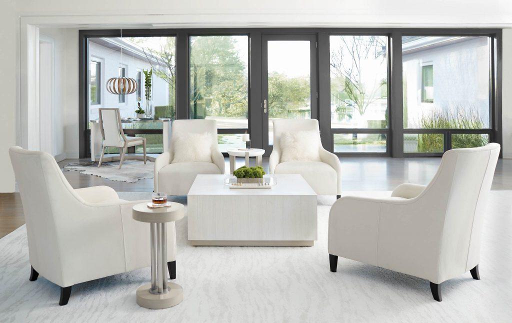 white living room funriture