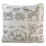 Jungle Global Bazaar Beige Animal Inspired Square Pillow - 20x20