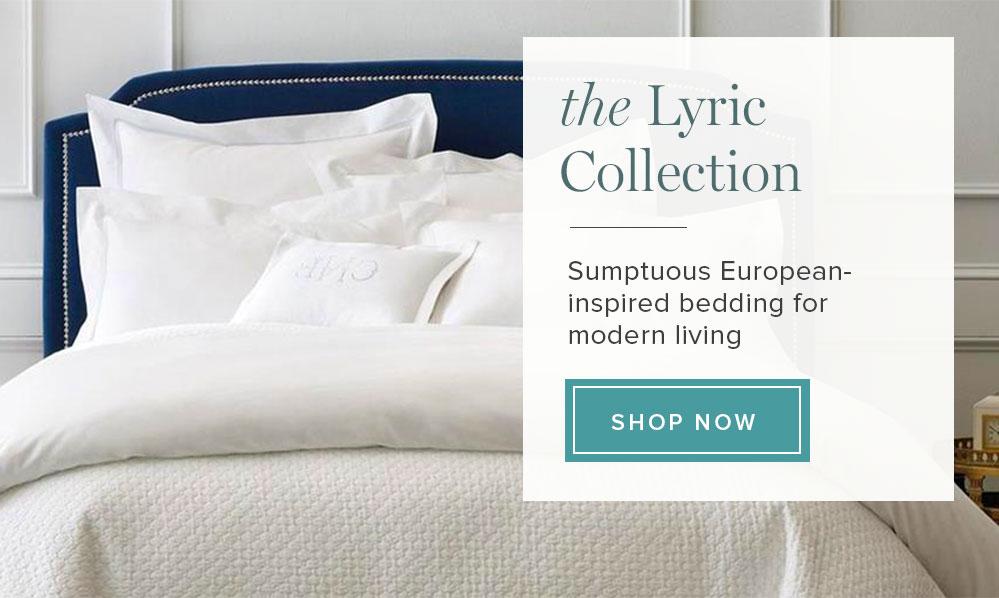 Peacock Alley Modern Lyric Cotton Percale Bedding Collection