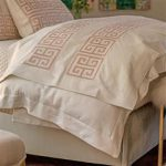 Lili Alessandra Guy Regency Basketweave Throw