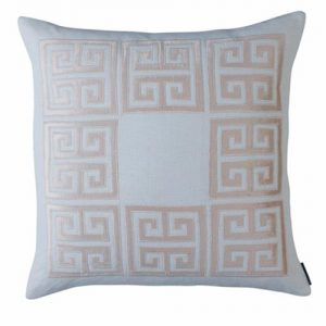 Lili Alessandra Guy Regency Basketweave Pillow - Blush Pink Square