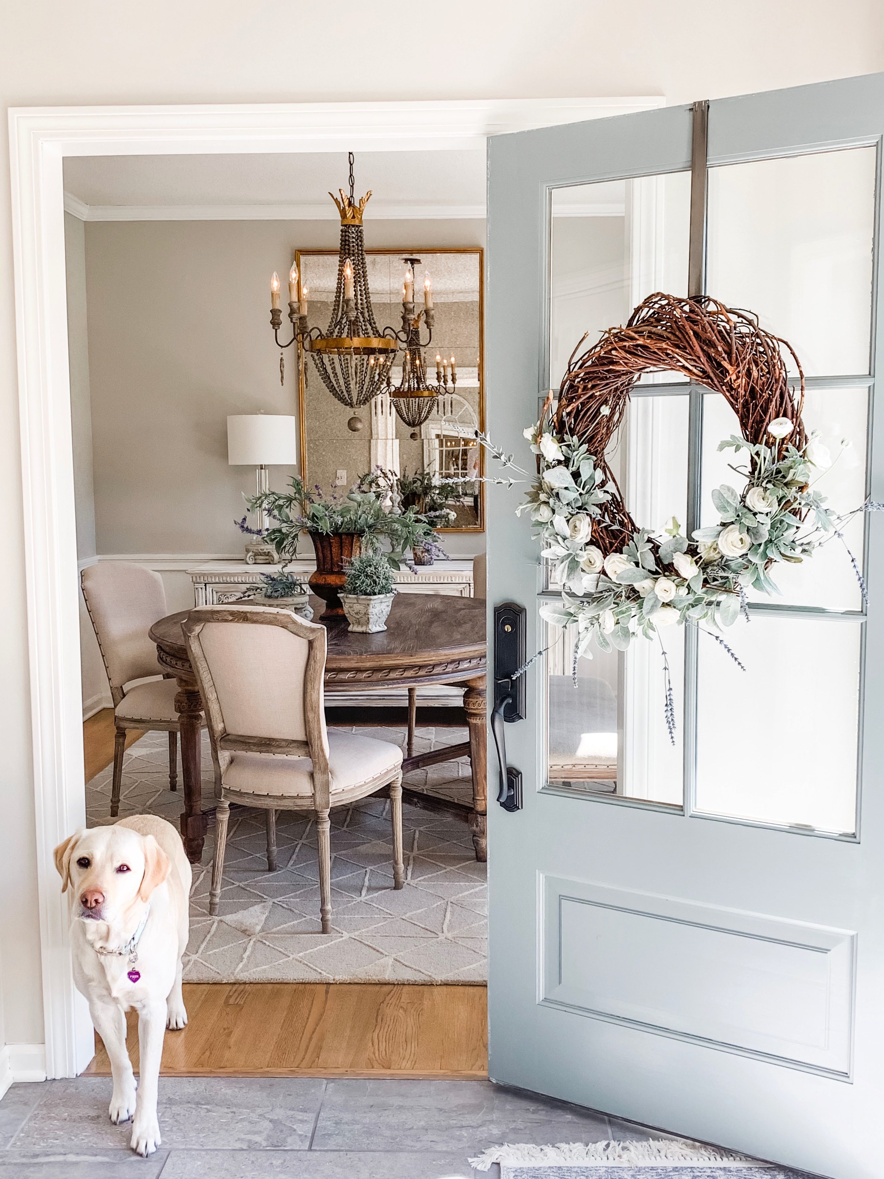 French country entryway