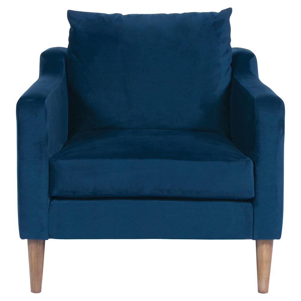 blue vanguard armchair