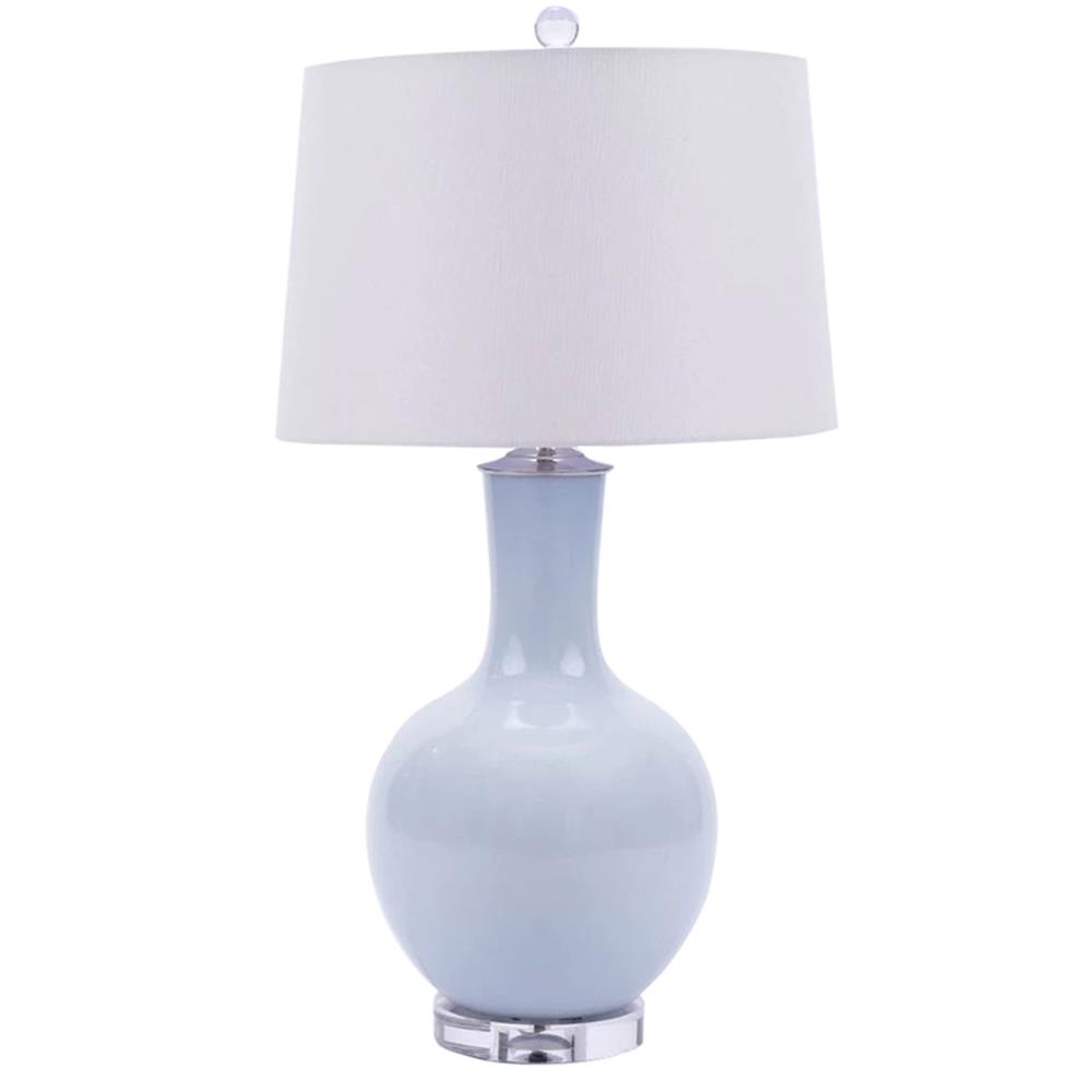 Cadogan Modern Classic Icy Blue Sphere Porcelain Table Lamp