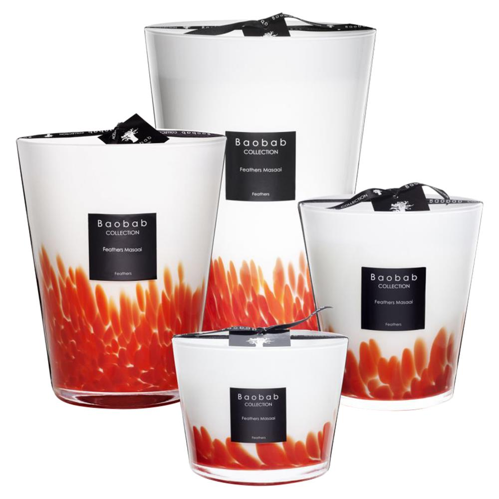 set of four luxurious candles
