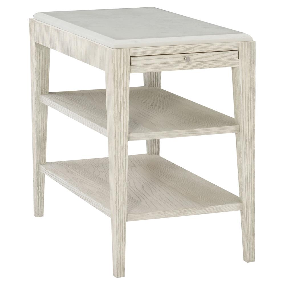 white modern classic side table