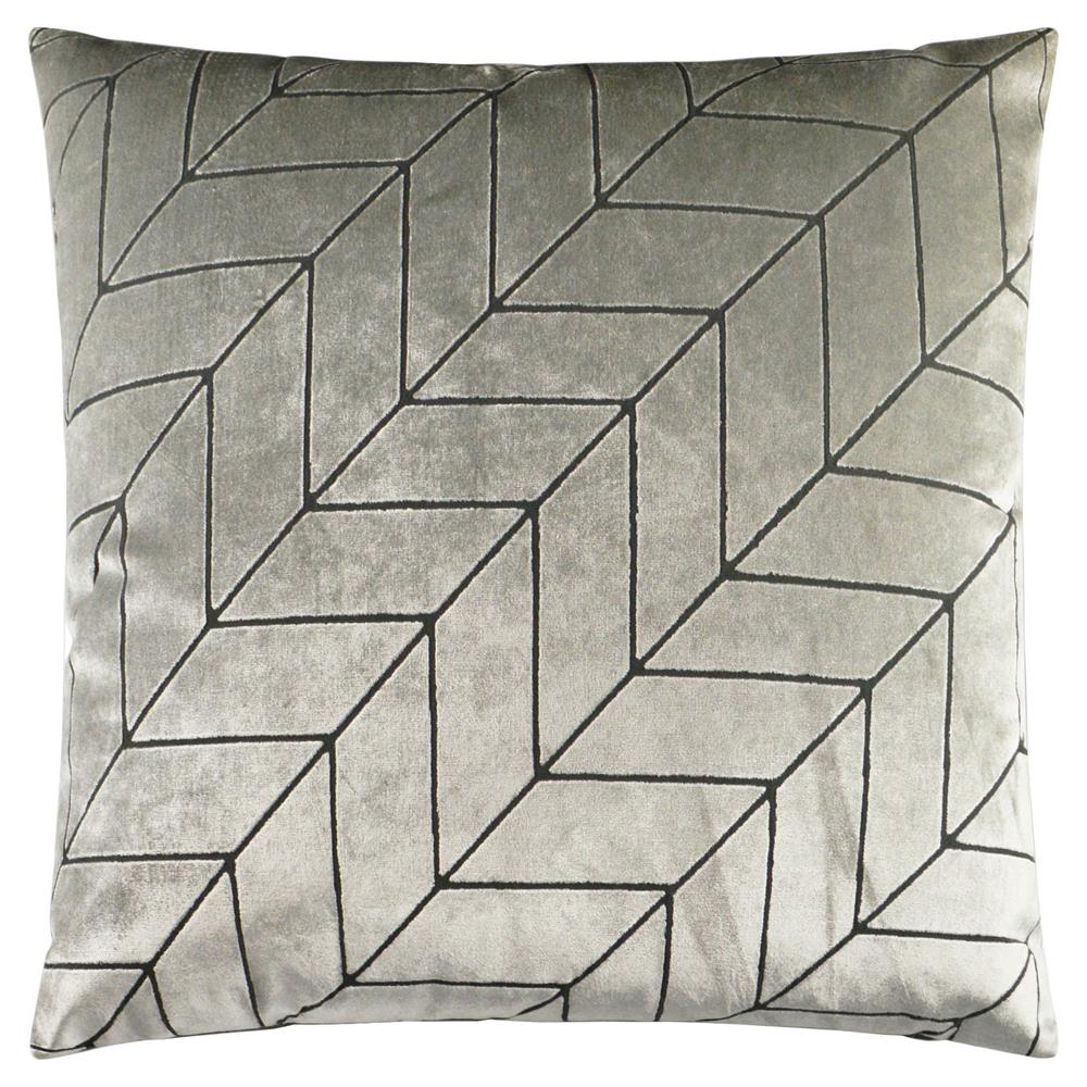 square silver pillow