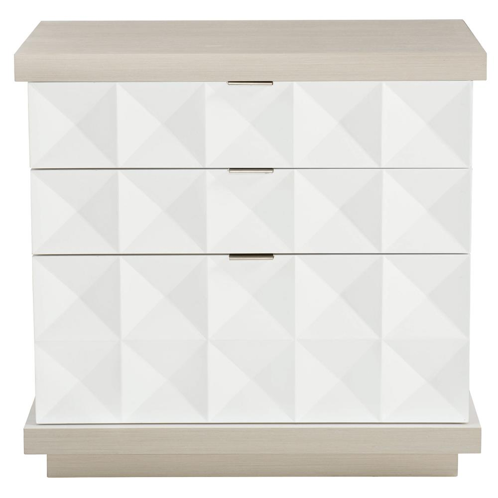white modern classic nightstand