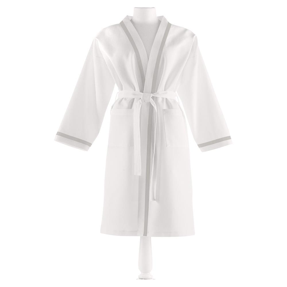 luxurious white bathrobe