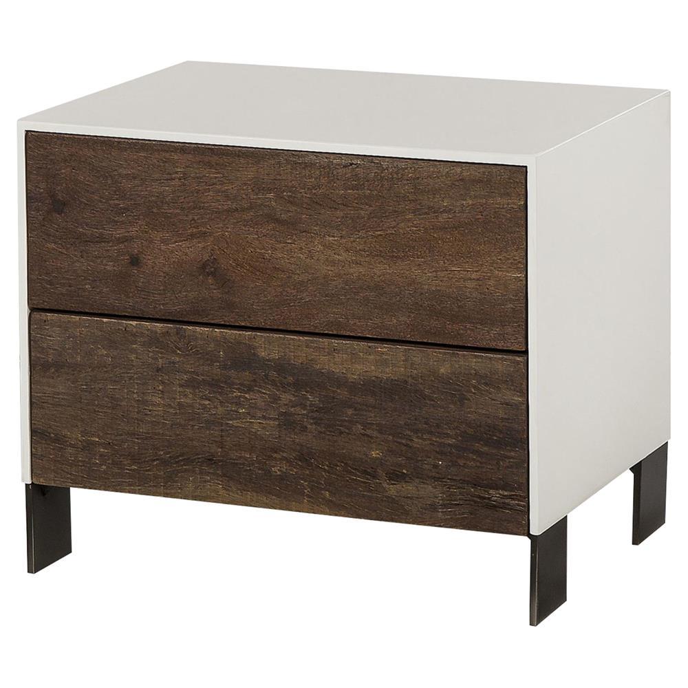 mid-century wooden nightstand