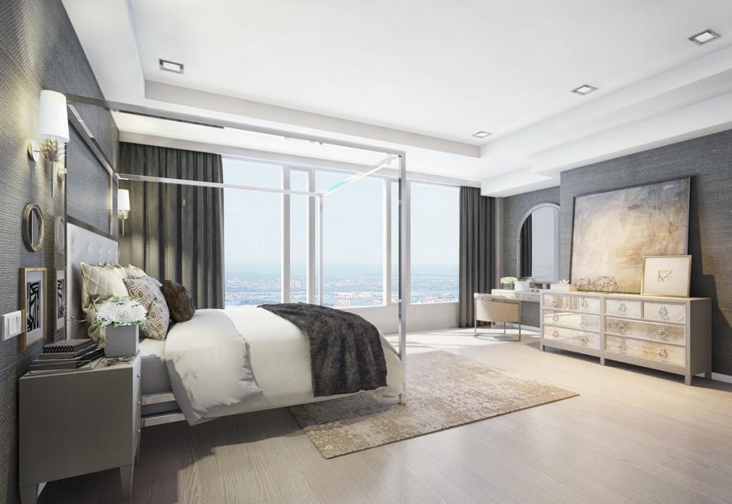 modern chic bedroom interior