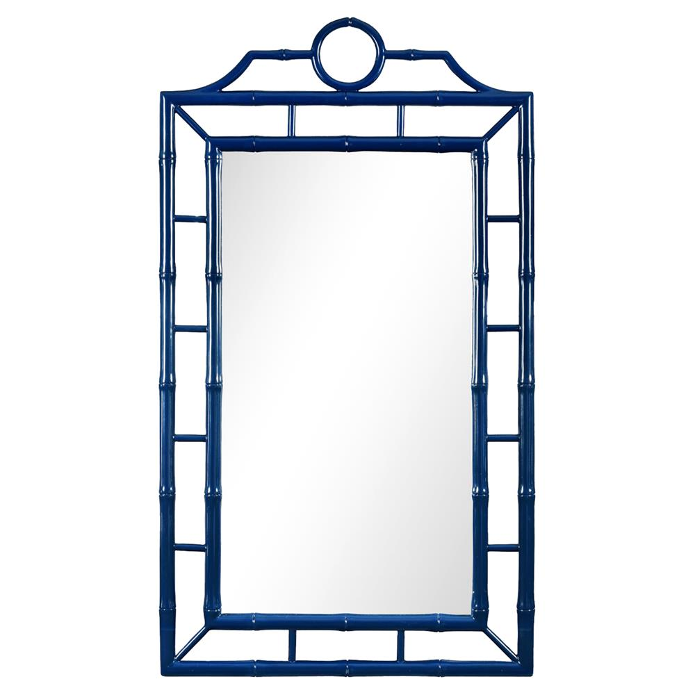 blue geometric mirror