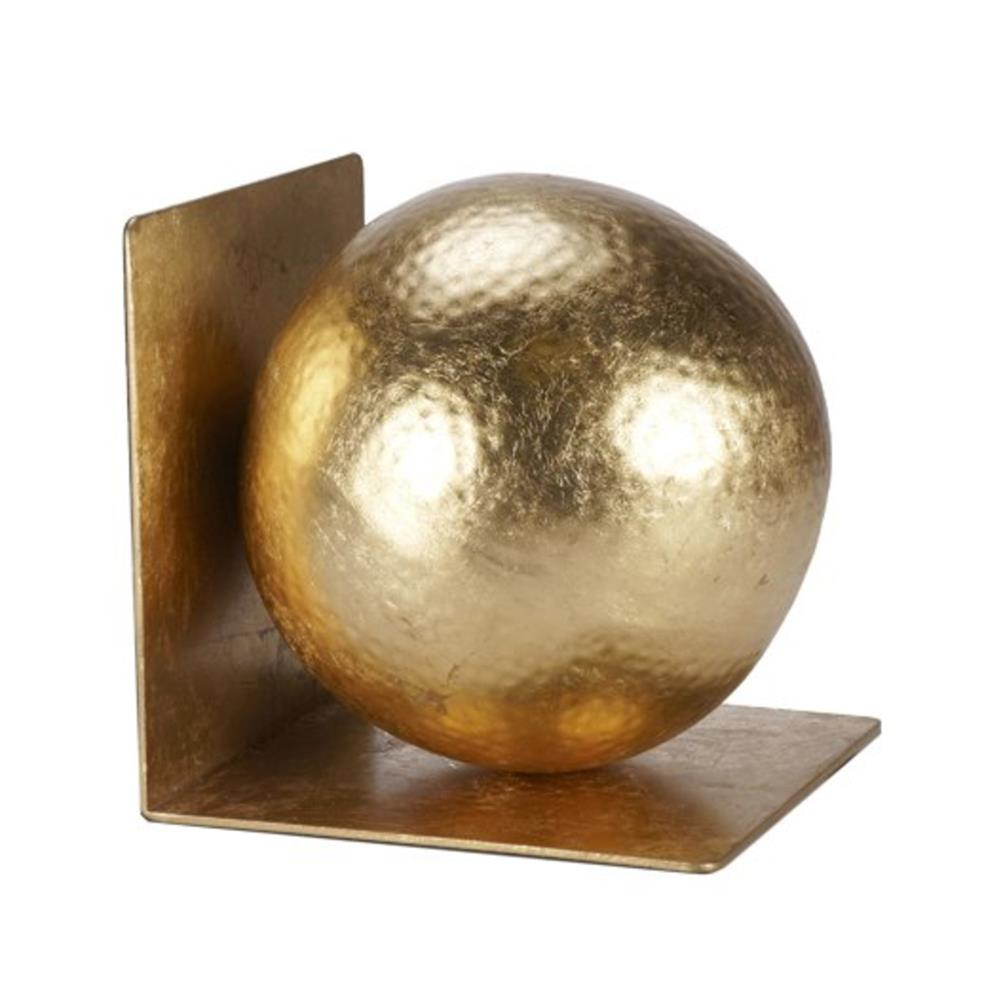 gold round bookend