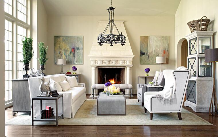 modern vintage living room interior