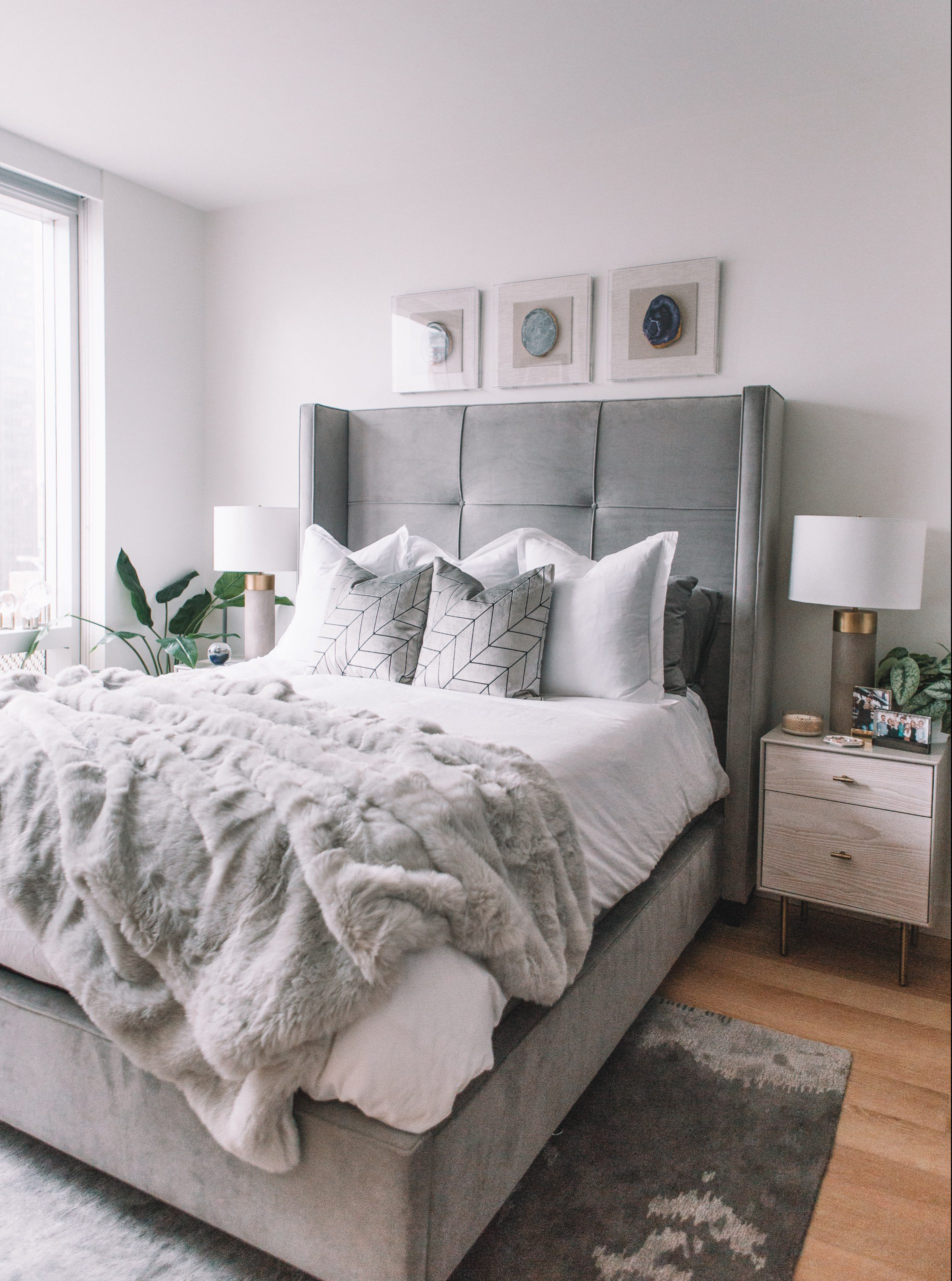 gray bedroom interior
