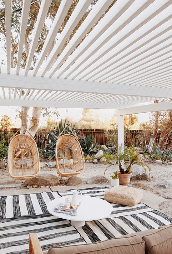 outdoor chairs on the beach