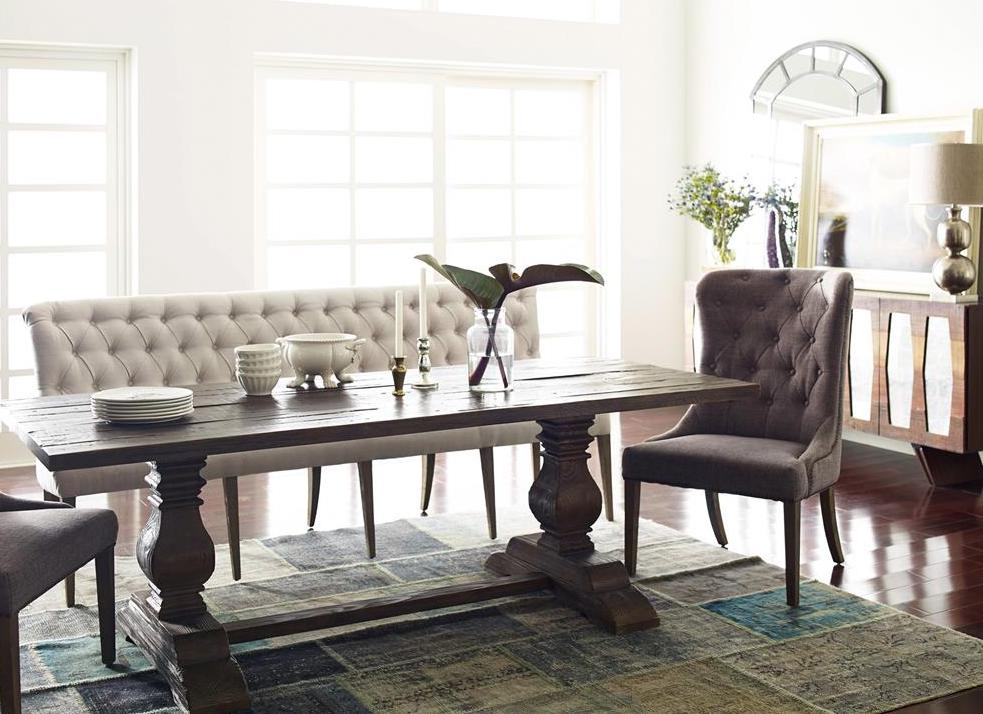 dining table with banquet bench