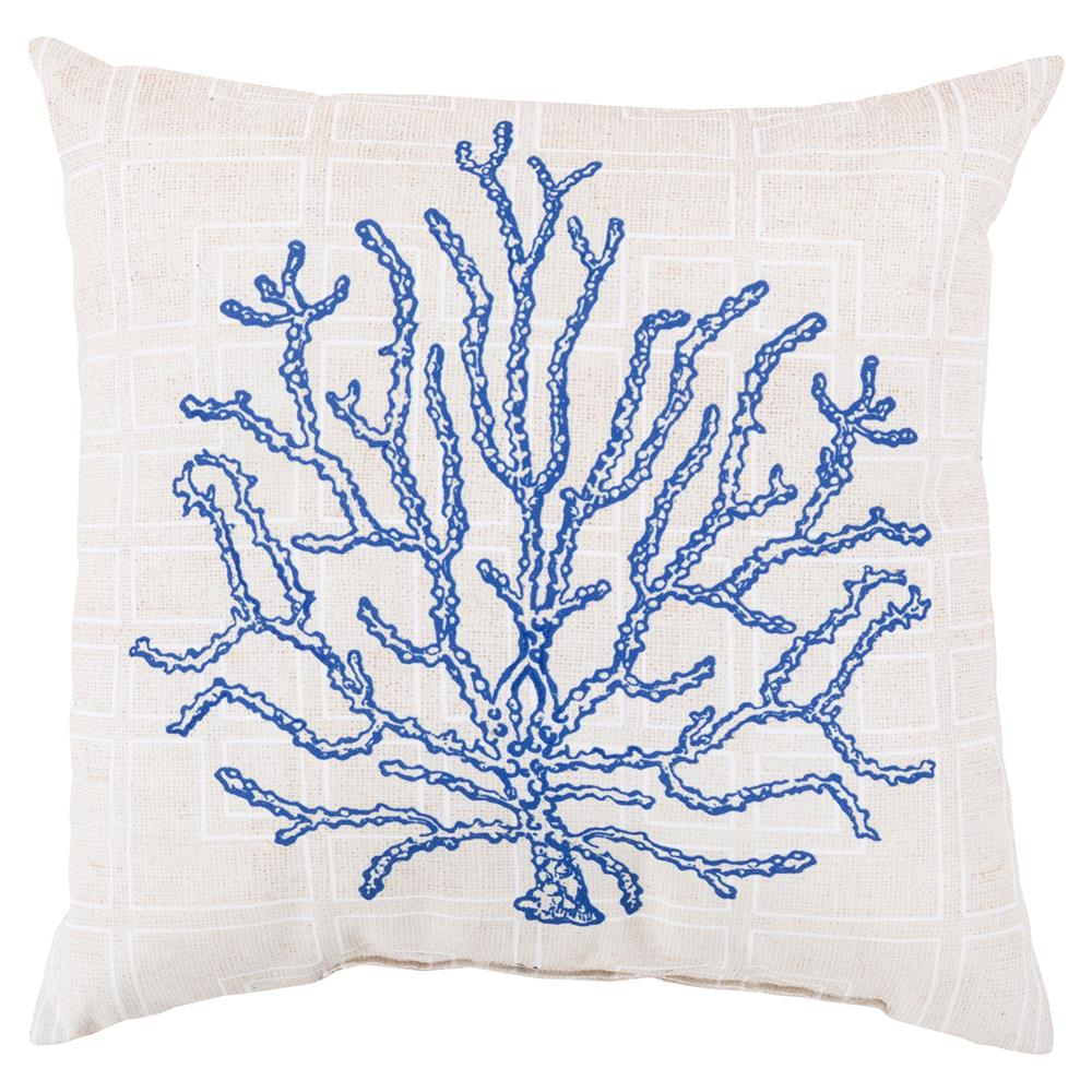 pillow with coral on it