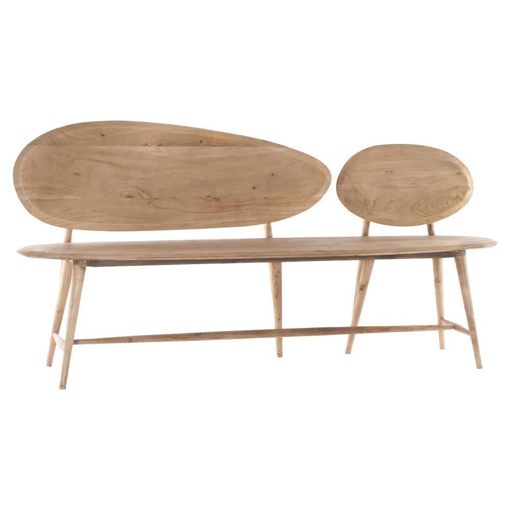 wooden bench