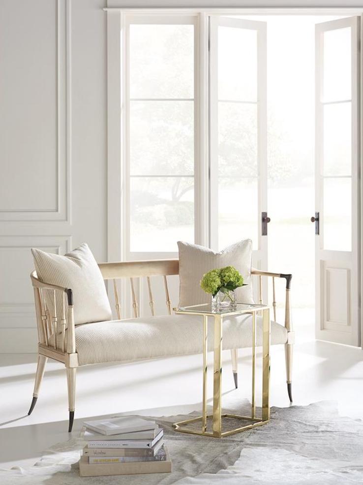 wooden settee