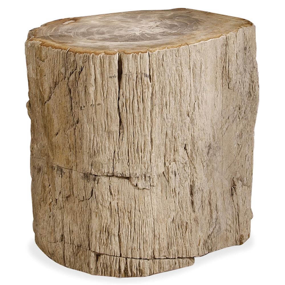 wooden stump side table