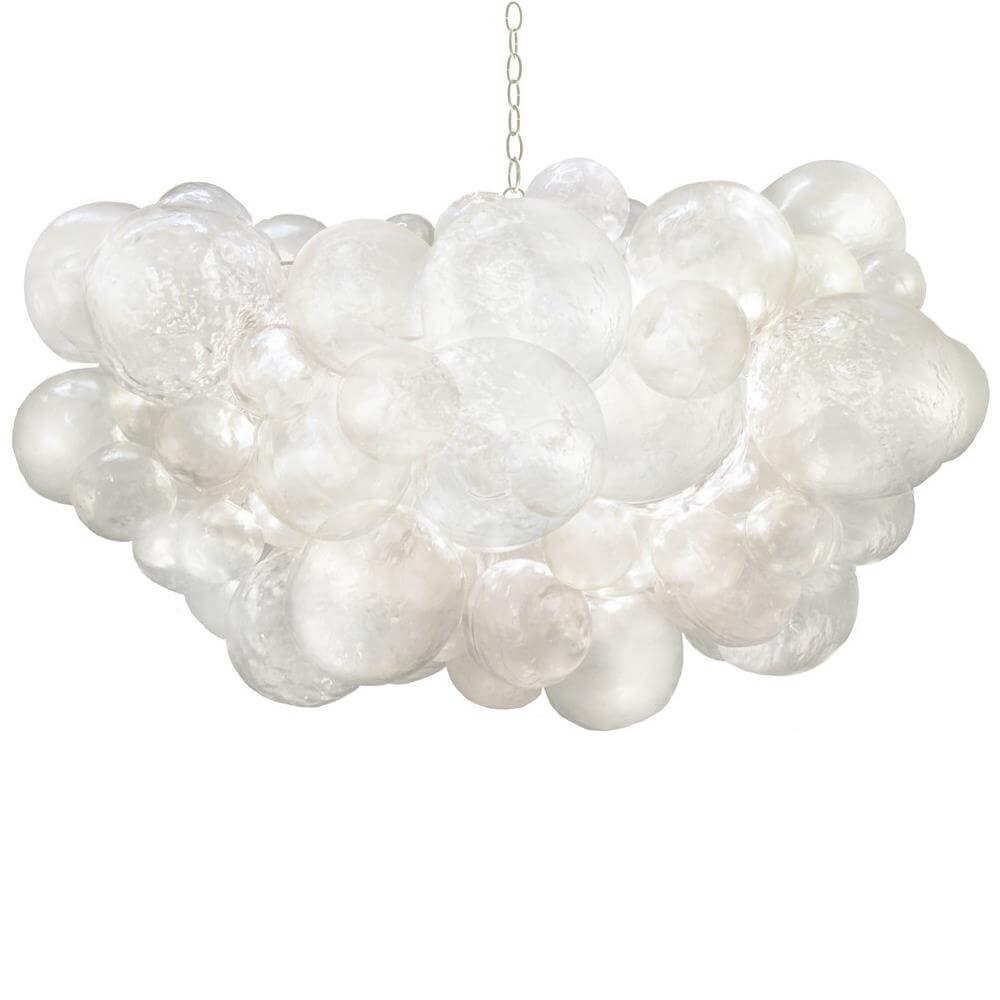white bubble chandelier