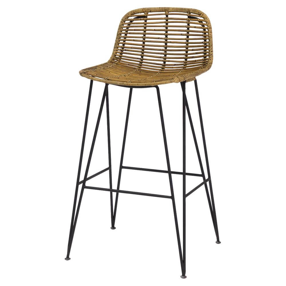 Rattan and metal chair