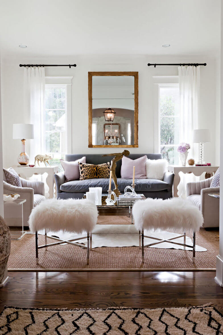 modern glam interior desing