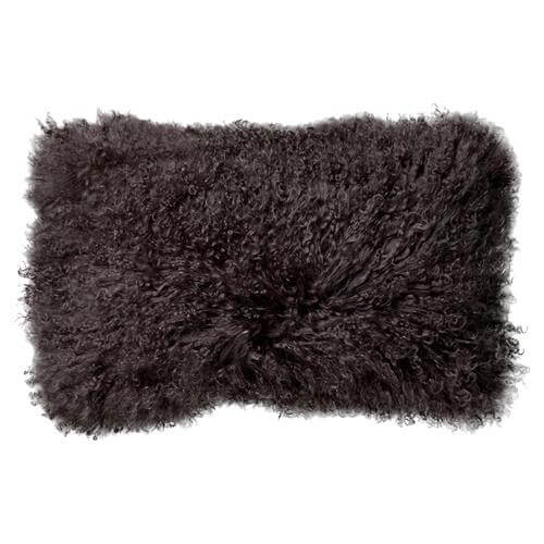 black fur pillow