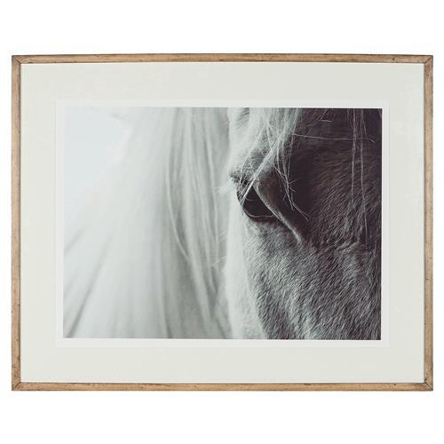 horse print framed
