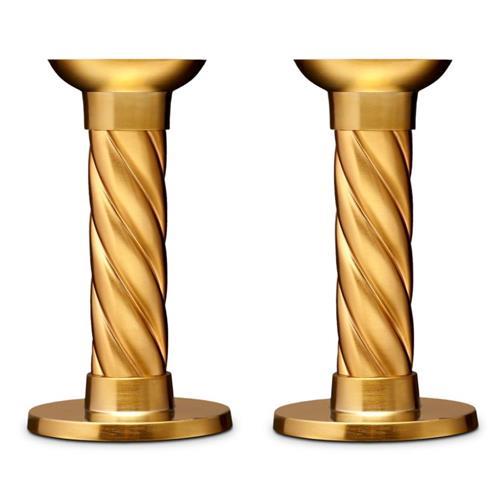l'objet gold candleholders