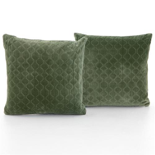 green pillows