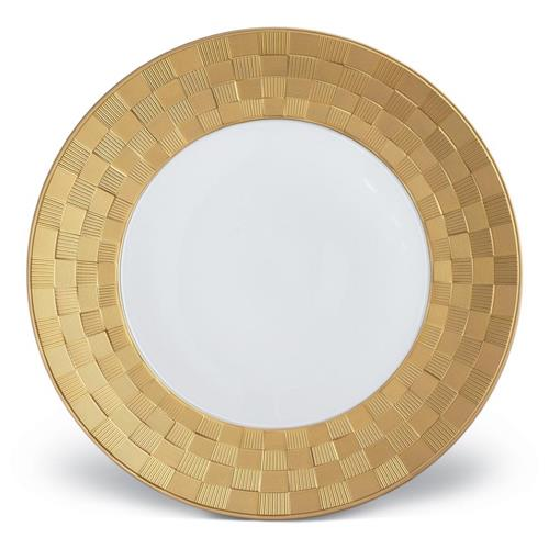 white and gold plate