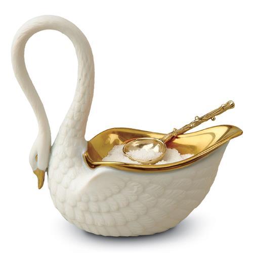 swan salt dish