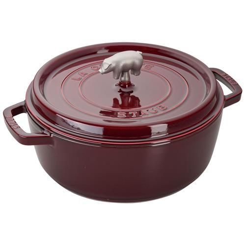 maroon pot