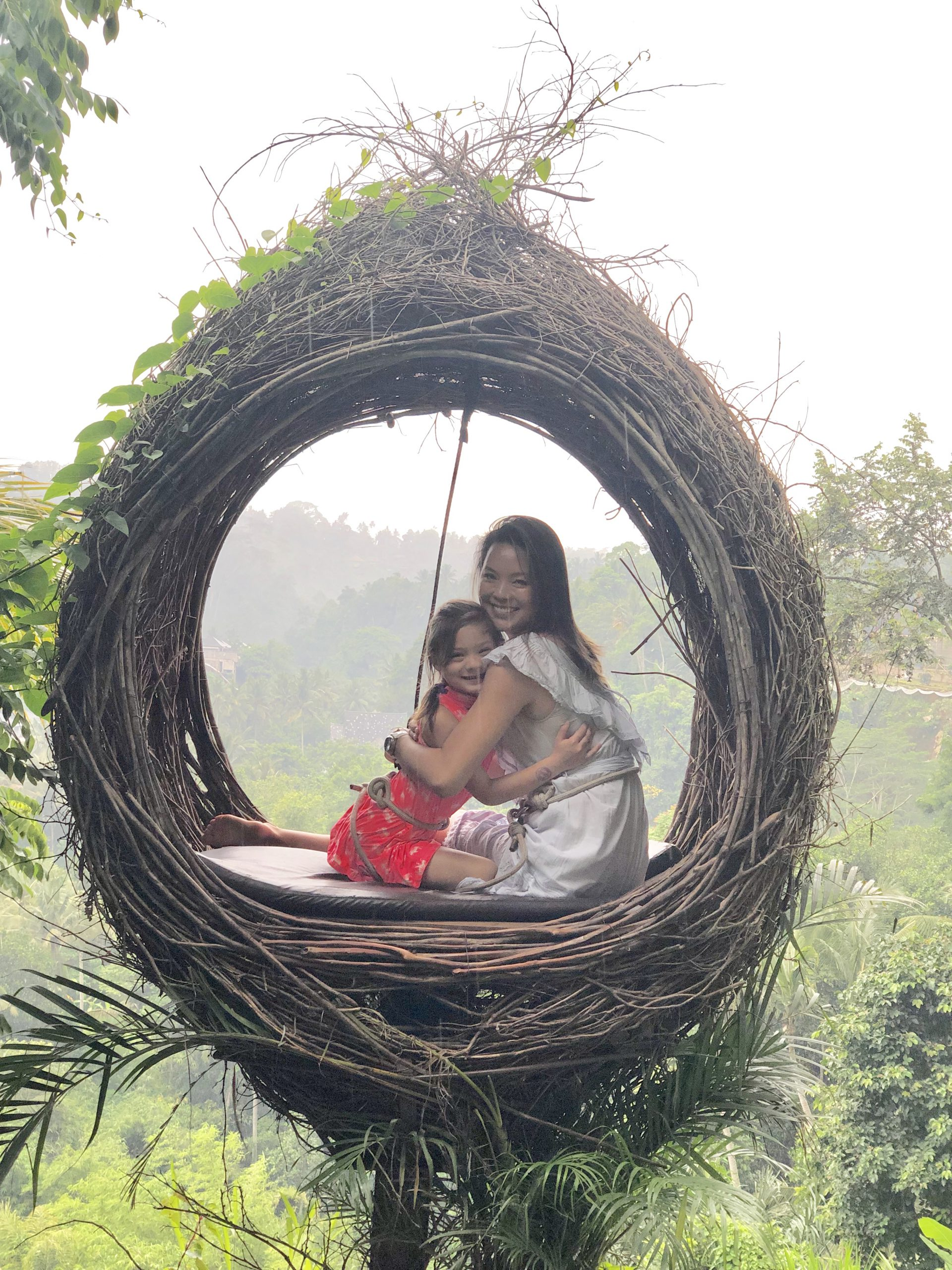 mother and child in bali